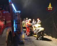 Il salvataggio dell'automobilista ferito a Vaglia