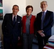 Da sinistra, il presidente UIA Coggiatti, la direttrice del Dipartimento Giunti e il direttore del comitato di gestione Mastellone