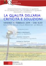 Qualità dell'aria: un convegno a Villa La Magia  - locandina