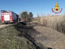 Il luogo dell'incendio a Castelfiorentino