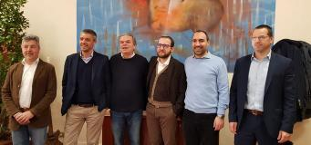 Da sinistra Armando Miniati, Cristiano Agostini, , il sindaco Lorenzini, Simone Barni, Simone Calamai, Francesco Criscione