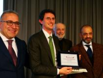 Da sinistra l'assessore Forastiero e Giuseppe Pancrazi, ieri alla cerimonia di premiazione alla Camera di Commercio