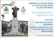 L'invito alla cerimonia di conferimento della cittadinanza onoraria (immagine da comunicato)