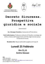 """""""Decreto Sicurezza"""", se ne parla con il professor Santoro"""