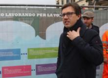 Sopralluogo del sindaco Nardella sul Ponte Vespucci (foto da ufficio stampa comune di Firenze - CGE)