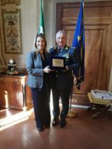 Il prefetto Laura Lega ha ricevuto a Palazzo Medici Riccardi il comandante generale della Guardia di Finanza generale Giorgio Toschi