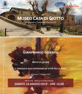 L'invito alla mostra di Gianfranco Gobbini a Vicchio (foto da comunicato)