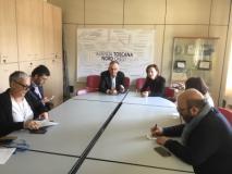 Rossi a Pisa all'incontro con dg e direttori di dipartimento della Asl Toscana nord ovest