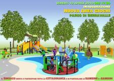 Nuova area gioco per bambini al parco di Serravalle