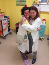 Il clown Maura con la dottoressa Rosalia Emidia Di Silvio