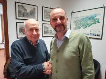 da sx Giuseppe Garro, Sebastiano Renna (nuovo presidente associazione Amici della Musica)