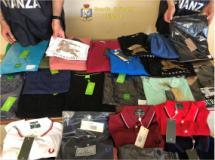 Sequestrati oltre 10.400 capi di abbigliamento ed accessori contraffatti di noti marchi