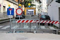 via Cinque Martiri sarà chiusa, per eseguire dei lavori (foto Antonello Serino Met)