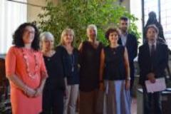 Da sinistra Angela Desideri, Stella Niccolai, l'assessore Alessandra Frosini, Patrizia Tesi, Enrica Ciucci, Andrea Baroncelli , Massimo Del Monaco (foto da caomunicato)