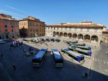 Nuovi bus Ataf in Piazza SS Annunziata