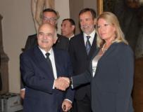 Il Principe El Hassan Bin Talal di Giordania con il prefetto Laura Lega