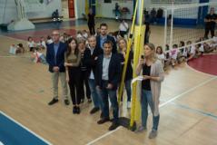 lavori al Palazzetto dello Sport nel giorno della presenza della nazionale sorde di volley femminile (foto da comunicato)