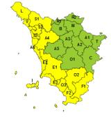 Maltempo, codice giallo per pioggia e temporali lungo costa e Maremma