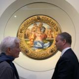 Il direttore Schmidt e Richard Gere agli Uffizi (foto da comunicato)