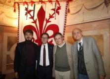 Il Sindaco Dario Nardella, l'assessore Tommaso Sacchi. Giovanni Battista Varoli e il Professore Giuseppe Benelli (Foto da comunicato)