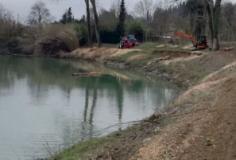 Lavori sul fiume a Rignano