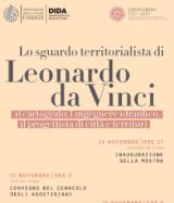 Locandina convegno 'Lo sguardo territorialista di Leonardo'