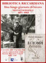 Manifesto della mostra 'Una lunga giornata di lavoro. Niccolò Rodolico 1873-1969'