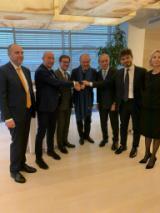 Partecipanti accordo di collaborazione fra Orchestra della Toscana e Orchestra del teatro Mariinsky di San Pietroburgo