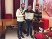 Il Sindaco Falorni, l'Assessore Bruchi e Moreno Sanità