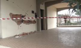 Edificio danneggiato dal terremoto