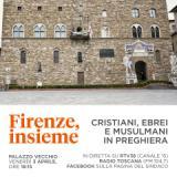 Cristiani, ebrei e musulmani in preghiera a Palazzo Vecchio
