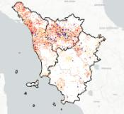 Mappa dei contagi in Toscana sul sito Ars