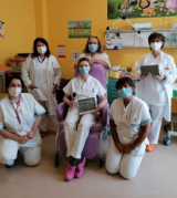 Il personale del reparto pediatria ospedale Mugello