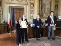 Bruno Faggioli, la consegna dell'onorificenza in Prefettura (Foto da comunicato)