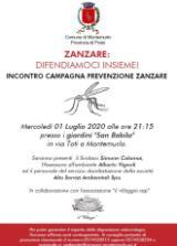 Locandina incontro sulle zanzare a Montemurlo