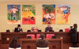 Presentazione del fregio di Alfredo Fabbri nella sala del Consiglio comunale di Quarrata