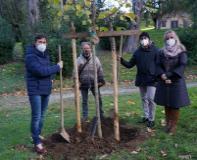 Piantagione di albero al Bobolino con Nardella e Del Re