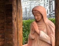 Presepe sul sagrato del Duomo di Firenze