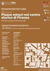 Locandina Piazze minori nel centro storico di Firenze