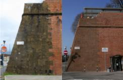 Firenze. Fortezza da Basso, restaurate le mura affacciate su piazzale Montelungo