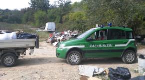 Intervento dei Carabinieri forestali in comune di Reggello