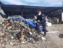 I rifiuti speciali nel'area sequestrata
