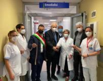 Taglio del nastro emodialisi Ospedale Santa Maria Annunziata