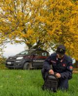 Carabiniere forestale in servizio