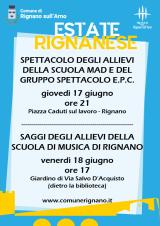 Estate Rignanese 2021 - locandina