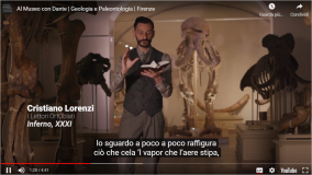 Un video rilancia i giganti fossili del Sistema Museale dell'Ateneo fiorentino (Frame da video al museo con Dante - Fonte Unifi)
