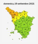 Allerta temporali in Toscana per il 19 settembre