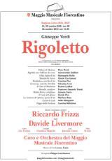 Locandina Rigoletto al Teatro del Maggio