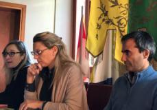 la presentazione da sx a sn. Serena Buti, Simona Rossetti, Gianluca Giannuzzi