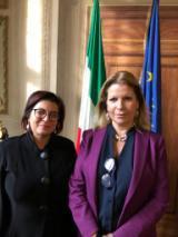 il vice prefetto vicario Paola Berardino con il prefetto Laura Lega